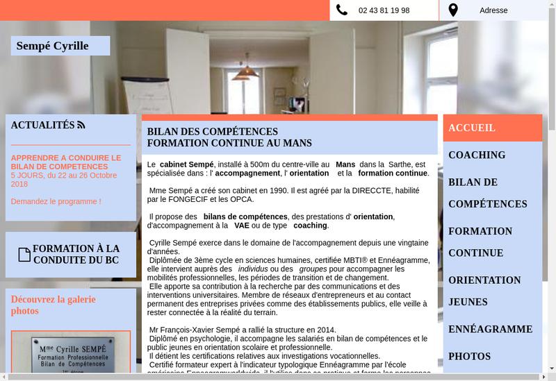 Capture d'écran du site de Cyrille Sempe