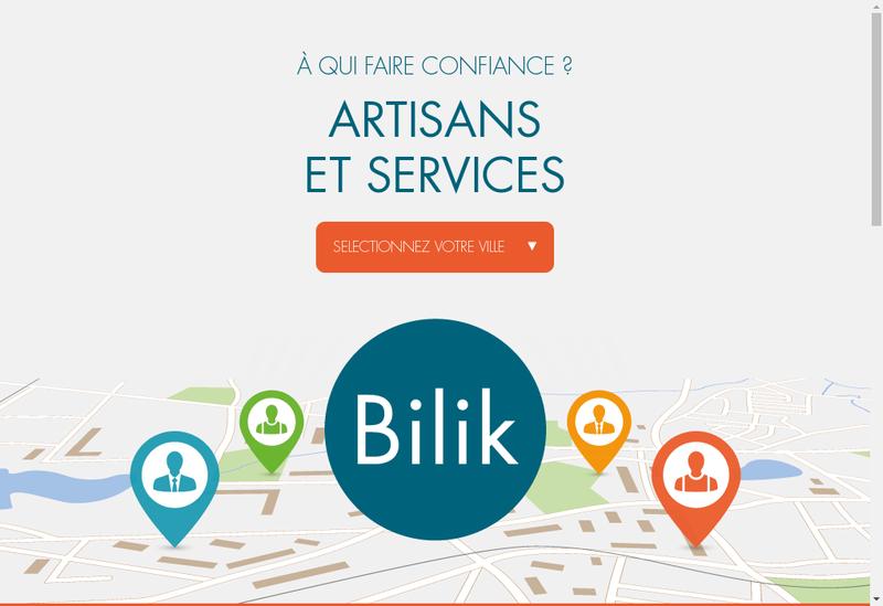 Capture d'écran du site de Bilik Grenoble