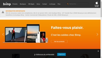 Site internet de Bimp Informatique