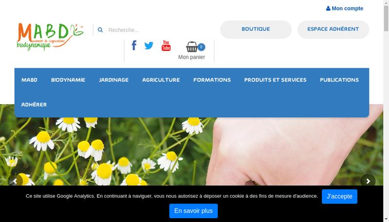 Capture d'écran du site de Bio Dynamique