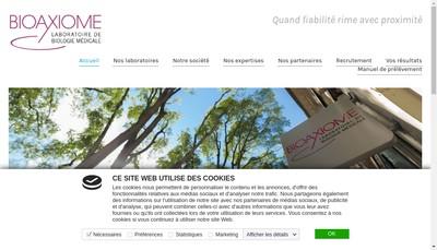 Site internet de Bioaxiome