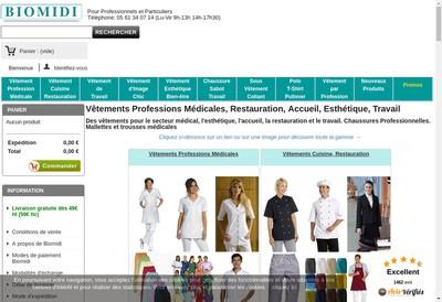 Site internet de Biomidi