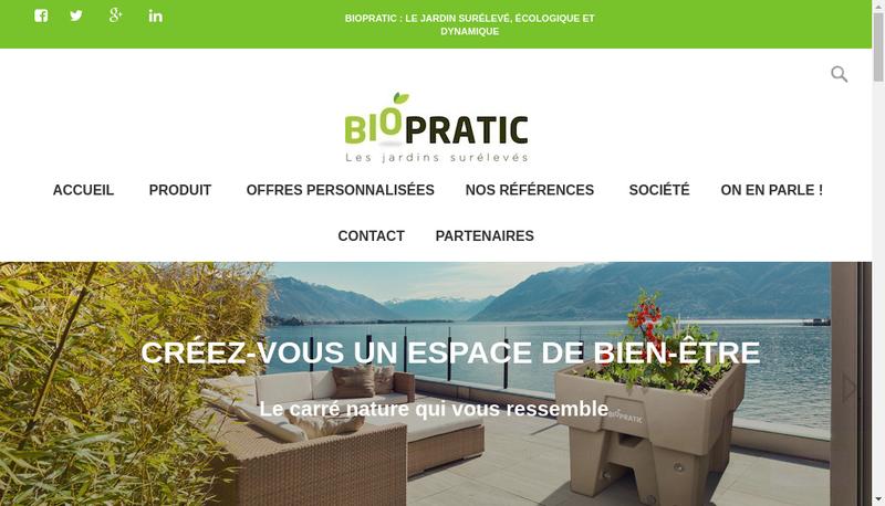 Capture d'écran du site de Biopratic