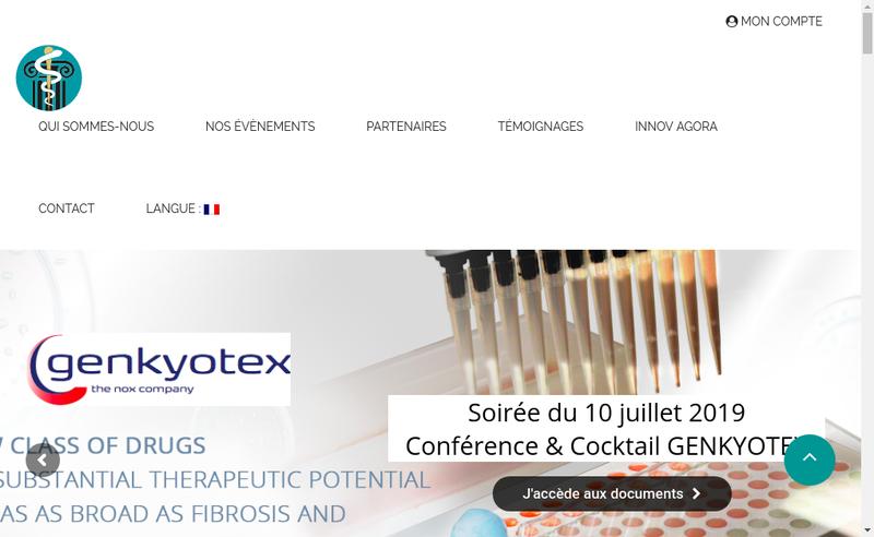 Capture d'écran du site de Biotech Agora