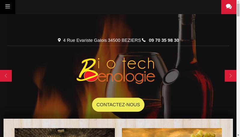 Capture d'écran du site de Deveze Biotech Oenologie