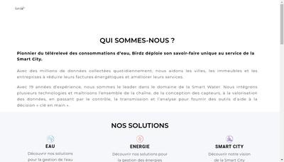 Site internet de Birdz