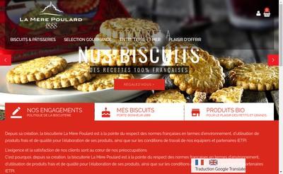 Site internet de Biscuiterie la Mere Poulard