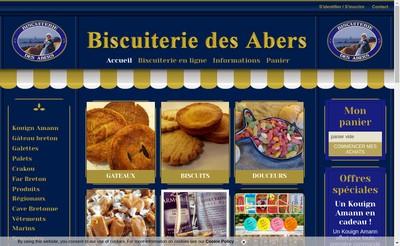 Site internet de Biscuiterie des Abers