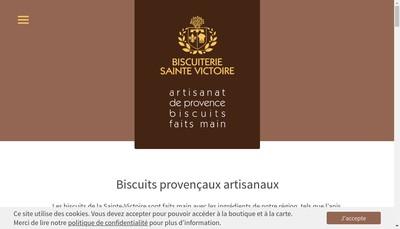 Site internet de Biscuiterie de la Sainte Victoire