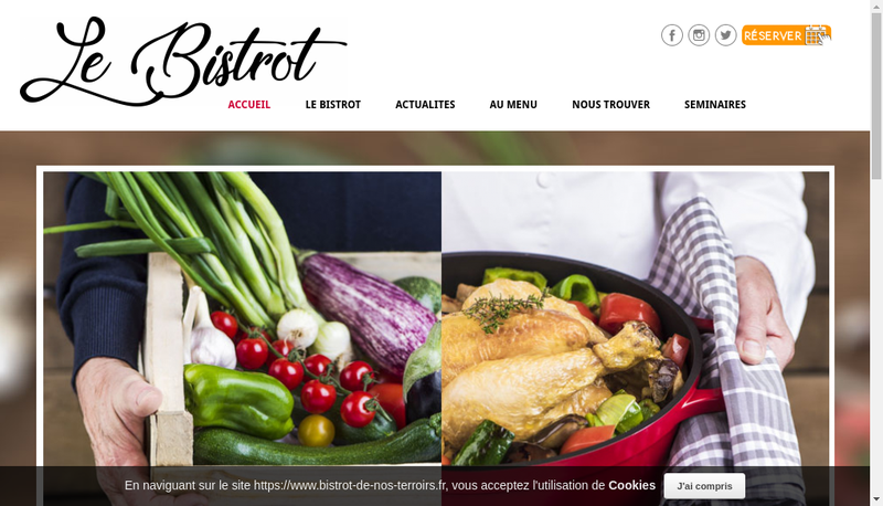 Capture d'écran du site de Le Bistrot