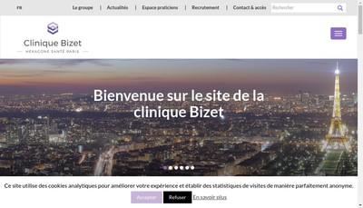 Site internet de Clinique Bizet