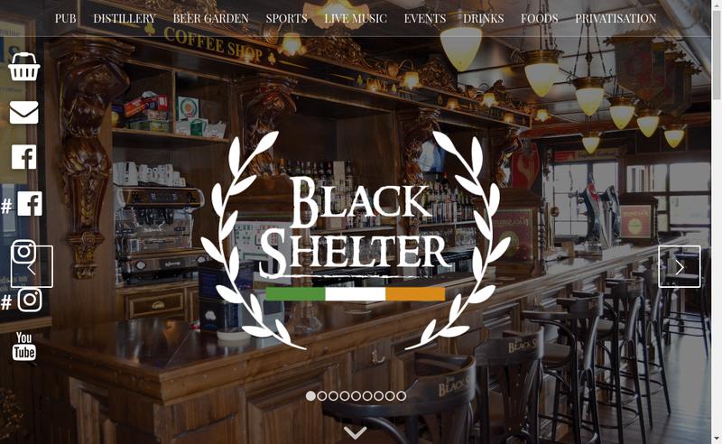 Capture d'écran du site de The Black Shelter