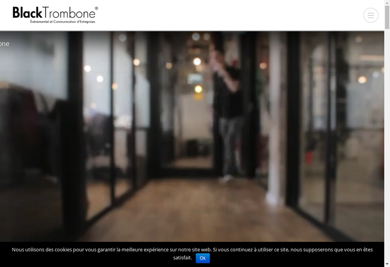 Capture d'écran du site de Black Trombone