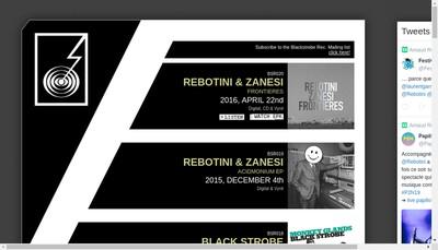 Site internet de Blackstrobe Records