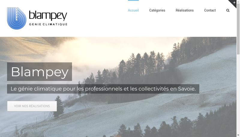 Capture d'écran du site de Blampey SAS