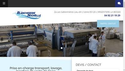 Site internet de Blanchisserie Nouvelle
