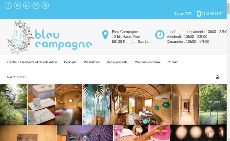 Capture d'écran du site de Bleu Campagne
