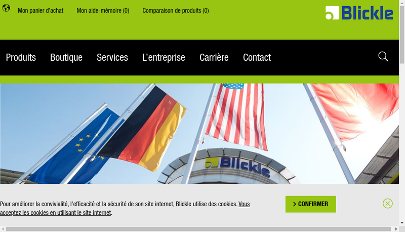 Capture d'écran du site de Blickle France