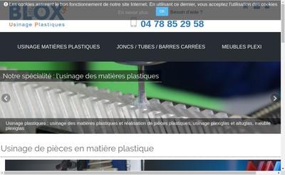 Site internet de Blox Usinage Plastiques