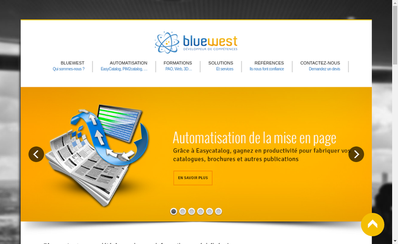 Capture d'écran du site de Bluewest