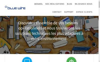 Site internet de Blue Wire France