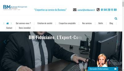 Site internet de Business Management Fiduciaire