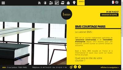 Site internet de Bms Courtage