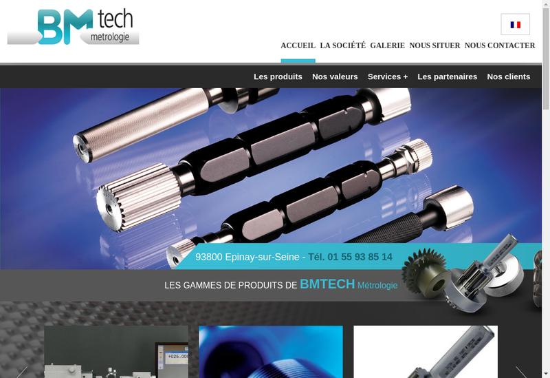 Capture d'écran du site de Bmtech