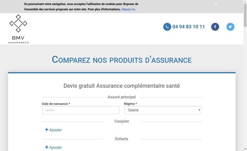 Site internet de Bmv Assurances