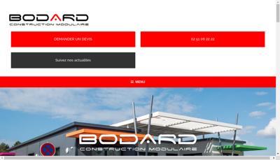 Capture d'écran du site de Bodard Construction Modulaire
