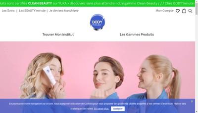 Site internet de Body Minute