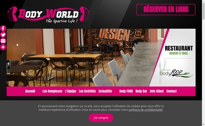 Site internet de Body World