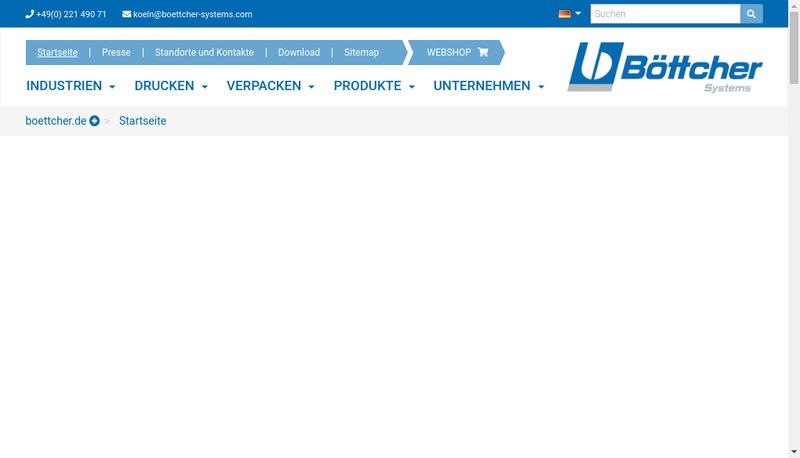 Capture d'écran du site de Bottcher France