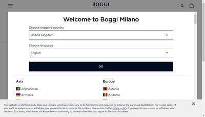 Site internet de Boggi Milano