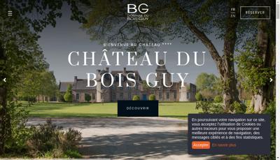 Capture d'écran du site de Guy Dubois