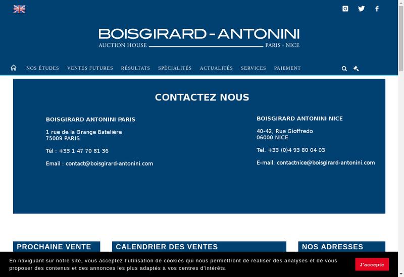 Capture d'écran du site de Boisgirard-Antonini