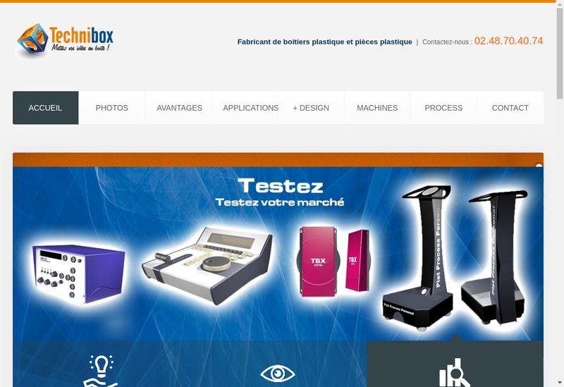 Capture d'écran du site de Technibox