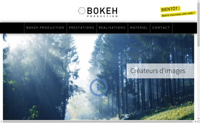 Site internet de Bokeh Production