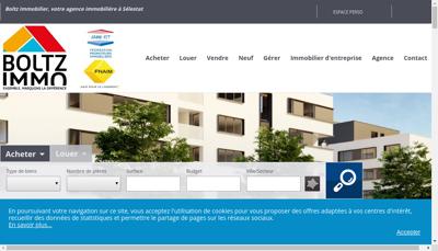 Capture d'écran du site de Boltz Immobilier