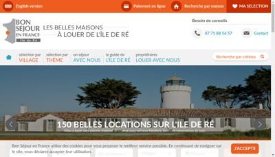 Site internet de Bon Sejour en France