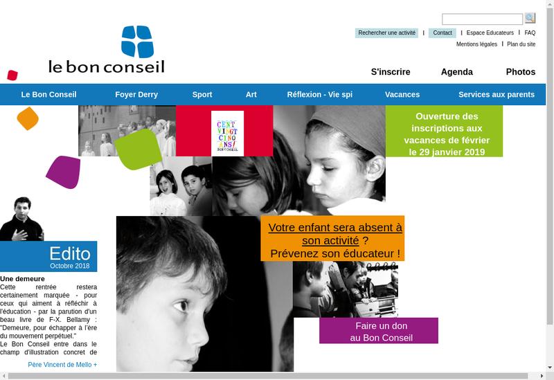 Capture d'écran du site de Lebon Conseil