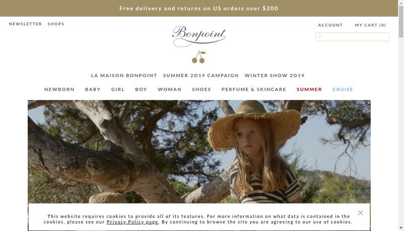 Capture d'écran du site de Financiere Bonpoint