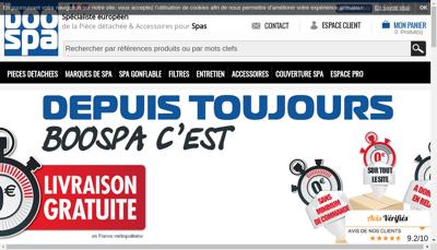Capture d'écran du site de Boospa