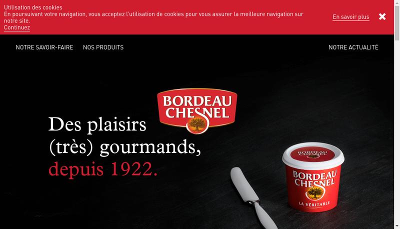 Capture d'écran du site de Luissier Bordeau Chesnel