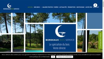 Site internet de Bordeaux Bois Service