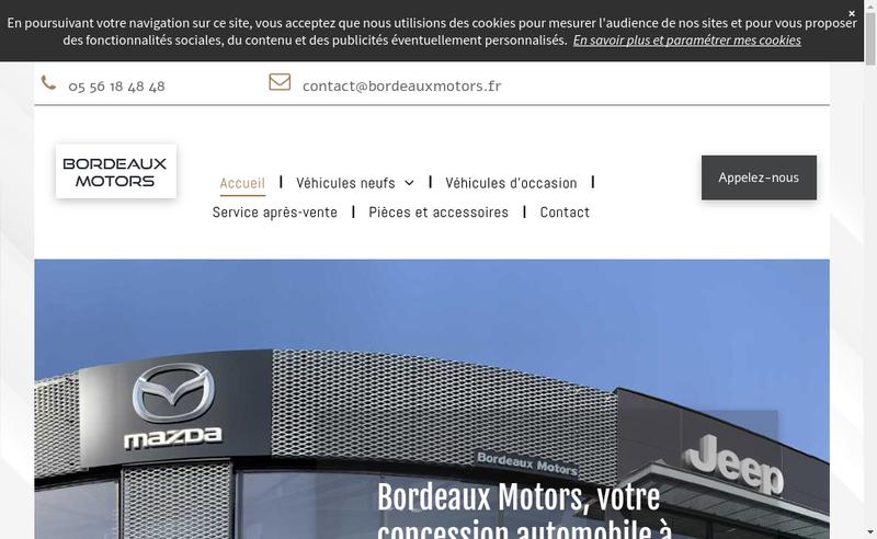 Capture d'écran du site de Bordeaux Motors