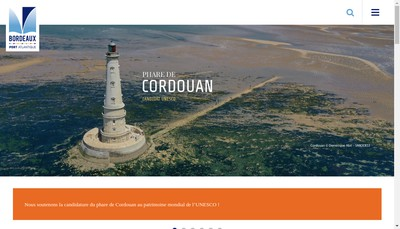 Site internet de Bordeaux Port Atlantique