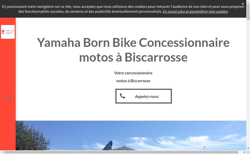 Capture d'écran du site de Born Bike