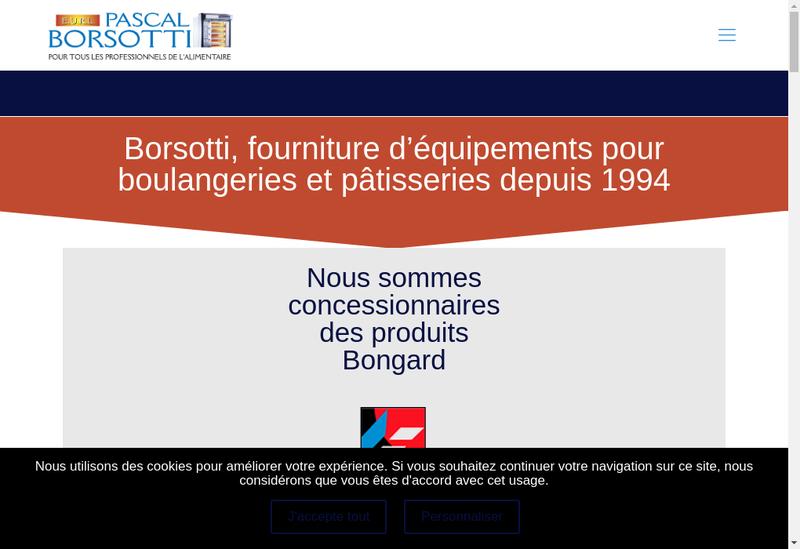 Capture d'écran du site de EURL Pascal Borsotti