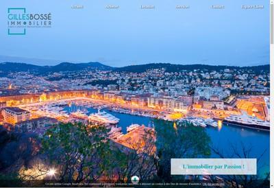 Site internet de Gilles Bosse Immobilier